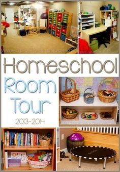 Homeschool School Room Tour 2013-2014 with www.1plus1plus1equals1.net