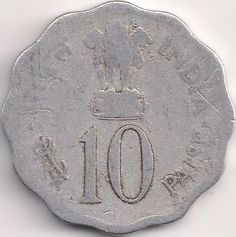Wertseite: Münze-Asien-Indien-Rupee-0.10-1974
