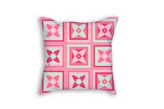 Floral Pillow Case Pink Throw Pillow by JourneysEndPillows on Etsy