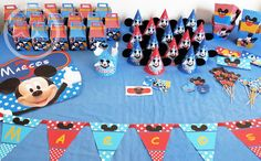MAR DE PAPEL: Los 3 años de Marcos: Mickey y piscina!!