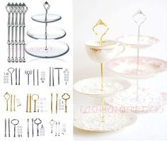 "Multi-shape cake #plate #stand #metal handle fitting hardware rod 3 tier 12""/14"",  View more on the LINK: 	http://www.zeppy.io/product/gb/2/300940324725/"