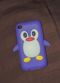 Purple Penguin iPod and iPhone case