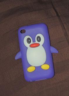 Purple Penguin iPod and iPhone case ~So cute!!~