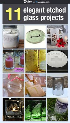 I love the look of etched glass but I never knew you could DIY it.
