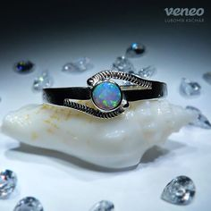 Cassiopeia. Silver or Gold Opal Ring all sizes by Veneo on Etsy, $53.00