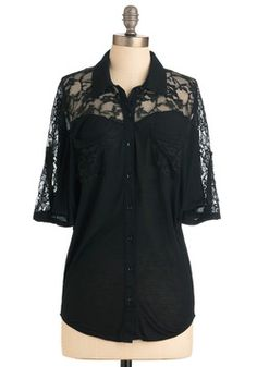 for work - Adventures in Lace Top, #ModCloth