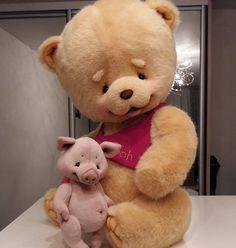 Мои Винни-Пух и Пятачок)  My Winnie-the-Pooh and Piglet)  #макарова_виктория #мишки #мишкитедди #теддимишка #тедди #виннипух #пятачок #ручнаяработа #makarova #teddybear #teddy #bear #handmade #winniethepooh #piglet #cute #cutie