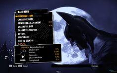 Batman: Arkham Asylum game menu interface