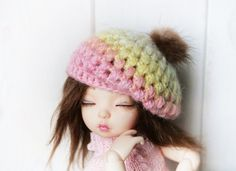 Littlefee Crochet Hat Candy and for BJD YoSD size by NataLitun