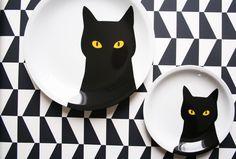 Cat plates.