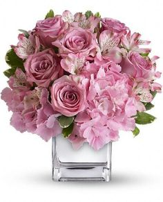 Order Be Sweet Bouquet flower arrangement from Neffsville Flower Shoppe, your local Lancaster, PA florist. Send Be Sweet Bouquet floral arrangement throughout Lancaster, PA and surrounding areas. Beautiful Flower Arrangements, Pink Flowers, Floral Arrangements, Beautiful Flowers, Pink Hydrangea, Lavender Roses, Bouquet Flowers, Bouquets, Lilac Bouquet