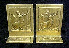 Hartford Fire Insurance Co. Metal Bookends