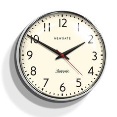 Watford Wall Clock from Newgate clocks. Chrome Wall Clock, Kitchen Wall Clocks, Mantel Clocks, Watford, Polished Chrome, Just In Case, Home Accessories, Home Goods, Homeschool