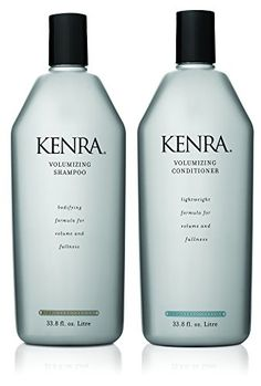 #Kenra Volumizing Shampoo amplifies fine, lifeless hair. Proteins and panthenol (vitamin B5) help to create body and fullness. Kenra Volumizing Conditioner adds ...