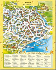 Map of Ratalonia, the capital of Mouse Island.