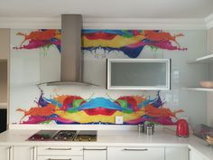 Eye Catching, Vibrant Printed Glass Splashbacks! contact us; info@shamik.co.za