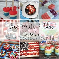 Fantastic Red White and Blue Treats