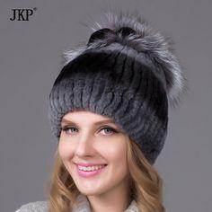 8d3d50b2d29c9 Womens Classic Rex Rabbit Fur Beanie Winter Warm Stripe Hats at Banggood  women fashion accessories
