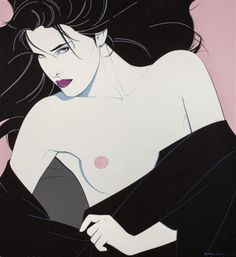 PATRICK NAGEL (American, Untitled (Her Look), 1983 Acrylic on canvas 36 x 33 in. Signed and dated lower - Available at 2014 May 7 Illustration Art. Patrick Nagel, Pop Art Posters, Cartoon Posters, Character Illustration, Illustration Art, Nagel Art, Photoshop, Pictures To Paint, Acrylic Painting Canvas