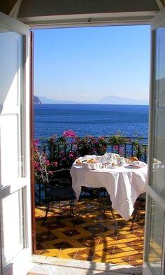 Dining on the Amalfi Coast, Italy