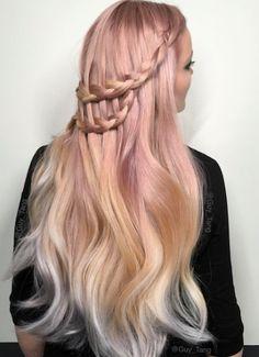 16 ways to cinch rose gold hair shesaid united states Dye My Hair, New Hair, Balayage Hair Blonde, Ombre Hair, Blonde Ends, Pastel Hair, Pink Hair, Hair Inspo, Hair Inspiration