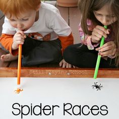 Fun spider game that incorporates blowing and using the diaphragm