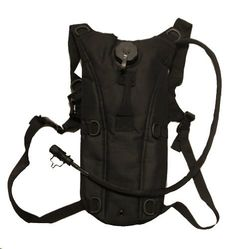Ultimate Arms Gear Tactical Stealth Black Hydration Pack Backpack Carrier With 2.5 Liter / 84 oz. Water Drinking Bladder Reservoir Capacity System Includes Hosing And Hands Free Bite Valve, Heavy Duty D-Rings, Storage Pocket, Adjustable Shoulder Strap & Emergency Carry Handle - Camping Hiking Outdoor Hunting Airsoft Bicycle Running Sports Military Army Patrol - http://emergencysurvival.supply/?product=ultimate-arms-gear-tactical-stealth-black-hydration-pack-backpack-carrier-w