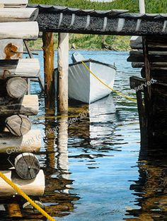 "Newfoundland Art - ""Under the Wharf"".      Allan Loder"