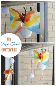 Paper Towel Butterflies - Easy to make, yet so adorable!