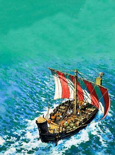 A Phoenician ship - similar to the type of ship Jonah boarded in Joppa when he tried to escape to Tarshish.