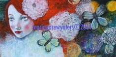 My Summer Dreams-  Original mixed media painting by Maria Pace Wynters