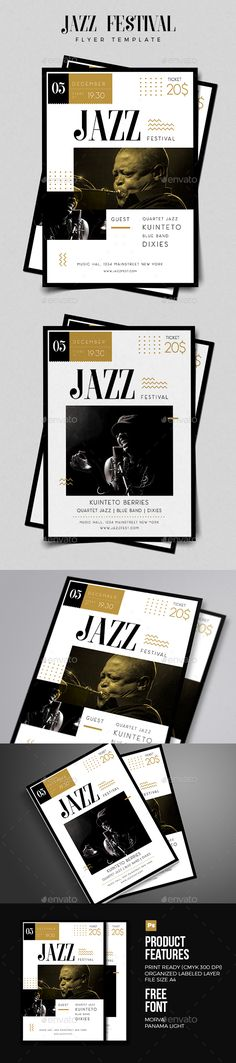 Jazz Flyer by vynetta Jazz Festival FlyerThis flyer was designed to promote a music event, such as a gig, concert, festival,and party FEATURES2 Psdfil