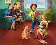 Frederick Sands Brunner  (American, 1886-1954). Время серенады
