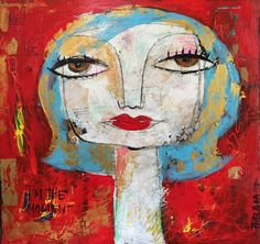 "For Sale: I'm the moment by Thelma Lugo | $250 | 24""w 24""h | Original Art | https://www.vangoart.co/thelmalugo/i-m-the-moment @VangoArt"