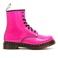 Dr Martens - 1460z - Hot Pink Patent at Cloggs