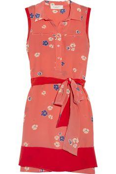 Miranda floral-print silk dress by Jill Stuart