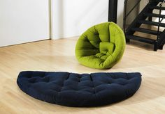 Soft Nest Chair.  Featuring with an easy storage and a soft texture, Nest Chair is more than a comfortable chair, it also can be transformed into a guest bed.