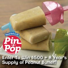 These pops are reminiscent of Meal Planning Magic's favorite childhood snack, apples and peanut butter! The addition of Greek yogurt makes it a protein packed treat. Get the recipe and enter the Pin-A-Pop Sweepstakes here: www.pinapopsweeps.com