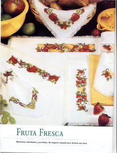 Gallery.ru / Фото #9 - Fruits, Vegetables - Auroraten Cross Stitch Fruit, Needlework, Vegetables, Crafts, Decor, Gallery, Kitchen, Food, Dish Towels