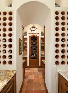 Classically Spanish - mediterranean - Wine Cellar - Dallas - Astleford Interiors, Inc.