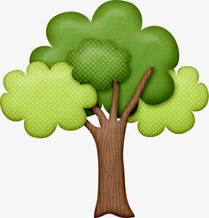 Cartoon painted green trees PNG and Clipart Diy And Crafts, Crafts For Kids, Paper Crafts, Tree Clipart, Masha And The Bear, Deco Nature, Cartoon Painting, Clip Art, Applique Patterns