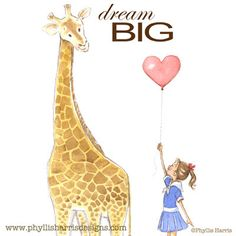 Phyllis Harris Illustration: Dream Big