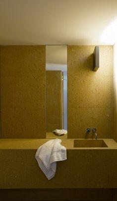 Claudi Silvestrin S Apartment London 2009 yellow bathroom