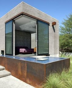 perfect shipping container home with pool