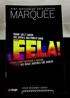 #FELA Playbill #Broadway Musical