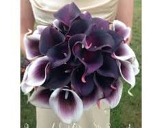 Image result for teardrop purple calla lily bridal bouquets