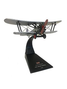 A diecast scale model of a British Royal Air Force 1931 Bristol Bulldog biplane fighter aircraft. Includes a free display stand. Diecast Model Aircraft, Diecast Models, Thing 1, Royal Air Force, Fighter Aircraft, Model Airplanes, British Royals, Scale Models, Bristol