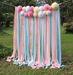 Pink white Lace mint ribbon Pom Poms flowers Sparkle fabric backdrop Wedding ceremony stage,birthday,baby shower backdrop party Garland by SilverDrawer on Etsy Fabric Backdrop Wedding, Diy Backdrop, Ceremony Backdrop, Backdrop Photobooth, Backdrop Decorations, Baby Shower Background, Baby Shower Backdrop, Birthday Party Decorations, Birthday Parties