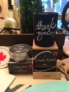 These unique chalkboard candles are a great way to send a special message to your Mother! Available at Endless Ideas Interiors #EndlessIdeas