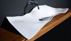 moden sink   Foglio Toilet Basin Makes a Poetic Bathroom   Tevami.com Inspirational ...